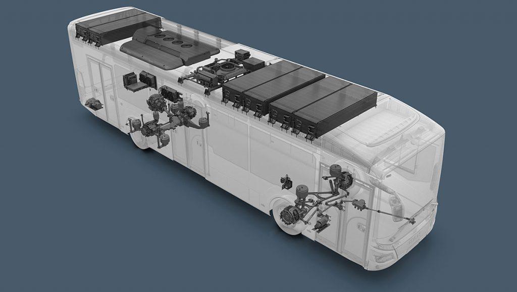3D-Visualisierung MAN Elektro-Stadtbus
